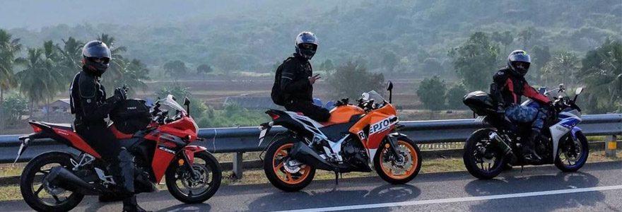 marque pour sa veste moto