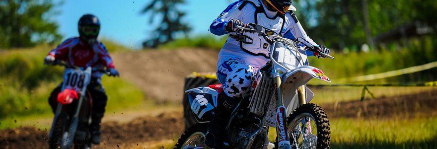equipement et des accessoires de moto cross
